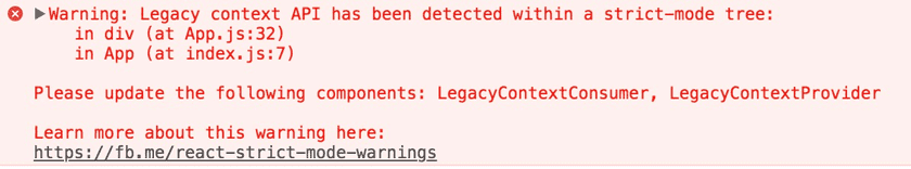 warn legacy context in strict mode
